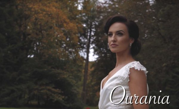 Ourania bride standing in Mount Falcon
