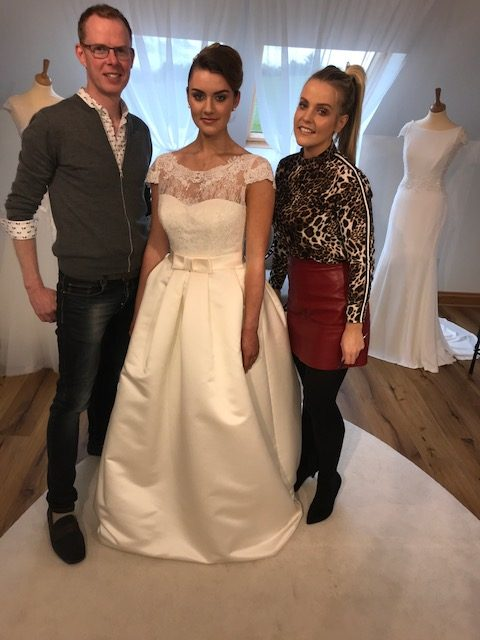 Dress Designer Thomas Heverin, Makeup Artist, Hayley Coleman and Model Amy Garvin